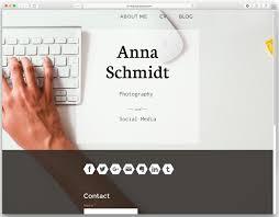 Online Resumes Website by Build A Resume Website Your Cv Online Jimdo