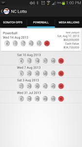 Mega Millions Payout Table Nc Lotto Android Apps On Google Play