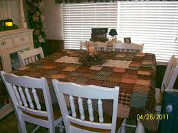 beautiful homespun tablecloth rags n rhinestones