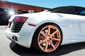 audi r8 gold audi r8 niche scuderia 7 wheels brushed gold tint