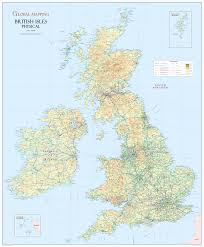 Channel Islands Map British Isles Physical Wall Map Xyz Maps