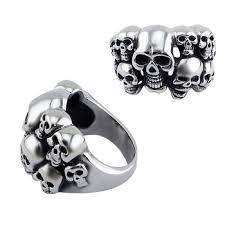 gothic rings men images Men 39 s skull bone gothic rings gold color scorpions vintage biker jpg