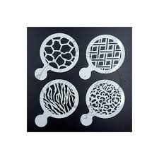 Chandelier Stencils Fabricake Set Of 4 Animal Print And Patterened Cupcake Topper
