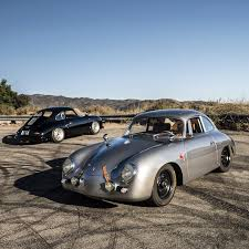 porsche outlaw emory motorsports 356 outlaw silver and 356 special black
