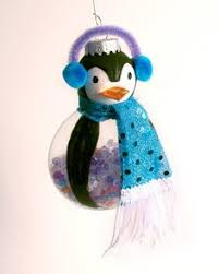 glass penguin ornament with scarf 15 00 via etsy stuff i