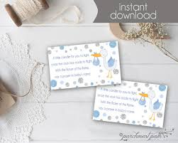 candle baby shower favors baby shower favor light a candle baby wishes card baby boy