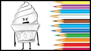 ice cream emoji how to draw ice cream from the emoji movie 2017 youtube