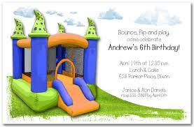 magic bounce house birthday invitations