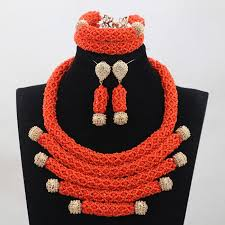 wedding bead necklace images 2017 latest deep coral african beads jewelry s new handmade jpg