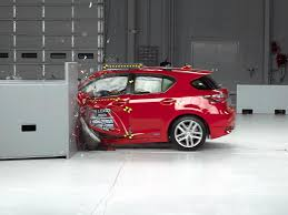 lexus ct200h vs bmw 3 series 2015 lexus ct 200h driver side small overlap iihs crash test youtube