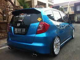 mobil honda jazz modifikasi mobil ceper new honda jazz warna cobalt blue all modify