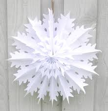 paper snowflake decoration winter snowflake