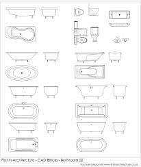 Autocad For Kitchen Design Autocad Blocks Bathroom Fixtures