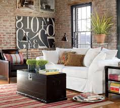 brown painted living room decor pottery barn living room modern