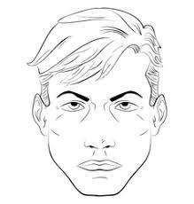 face handsome man royalty free vector image vectorstock