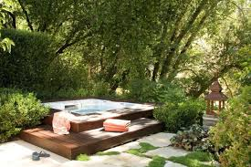 Awesome Garden Hot Tub Designs DigsDigs - Backyard spa designs