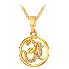 brand gold necklace images U7 brand aum om pendant charm necklace india hinduism jpg