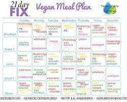 21 day fix meal plan vegan style get fit pinterest