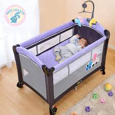 Folding C Bed Multifunctional Folding Crib Child Bed Continental Portable