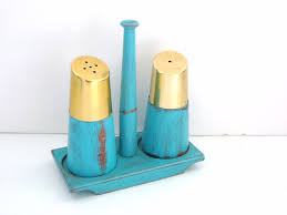 Turquoise Kitchen Decor by Salt And Pepper Shakers Shabby Chic Turquoise Kitchen Decor