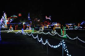 yukon ok christmas lights walk through a winter wonderland at christmas in the park city of