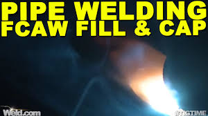 pipe welding fcaw welding the fill and cap pass tig time youtube
