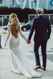 Long Sleeve Lace Wedding Dress Open Back 674 Best Lace Wedding Dresses Images On Pinterest Marriage