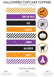 halloween cupcake toppers life made simple