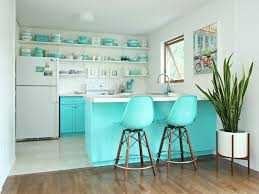 blue kitchen cabinet paint uk colorful painted kitchen cabinet ideas hgtv s decorating