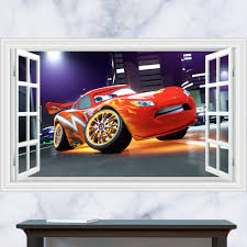 amazing kids bedroom 3d wall stickers cars removable cute wall