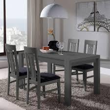 ensemble table chaises table chaises décor cendre afia salle à manger tousmesmeubles