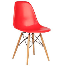 set of 4 eames dsw replica eiffel dining chair red
