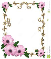 free borders for invitations daisy border wedding invitation template stock images image 8587884