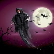 Halloween Outdoor Decorations Ebay by Animated Skeleton Ghost Halloween Outdoor Decoration With Glowing