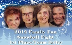 family christmas card for saying merry christmas snowfall themed