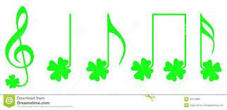 shamrock musical notes royalty free stock images image 4474989