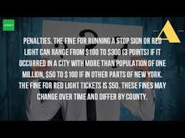 fine for running a red light how many points is a red light in ny youtube