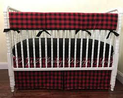 Plaid Crib Bedding Plaid Baby Bedding Etsy