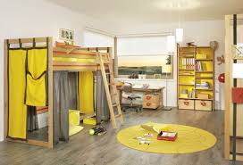 bedroom modern themed kids room designs with cool yellow bunk