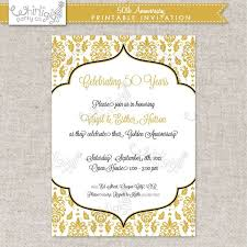 50 year wedding anniversary templates 50 year wedding invitations plus 50 golden wedding