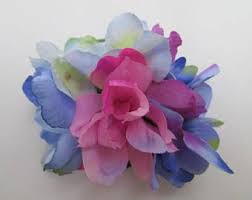 Blue And Purple Flowers Silk Flowers Etsy