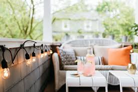 How To Style A Coffee Table Before And After How To Style A Small Outdoor Space The Everygirl