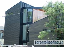 modern home metal cladding toronto roofing