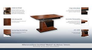 H Enverstellbarer Tisch Höhenverstellbarer Couchtisch
