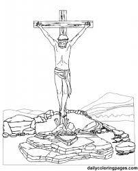 jesus on the cross coloring page intended to motivate in coloring