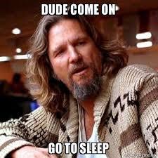 Go Sleep Meme - dude come on go to sleep big lebowski make a meme