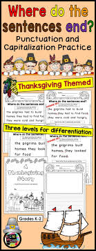thanksgiving writing punctuation capitalization where do the