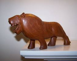 lion figurine lion figurine etsy