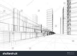 3d architektur designer abstract 3d vector construction office building stock vector