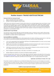 Resume Of An Electrician Trainee Assets Electrician Tasrail